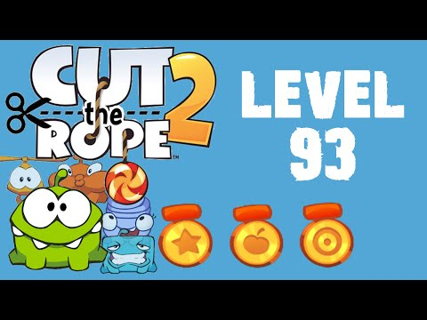 Cut the Rope 2 - Level 93 (3 stars, 58 fruits, 0 stars)