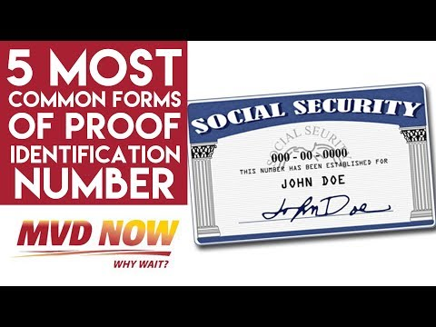 5 Most Common Forms Of Proof Of Identification Number - Real ID NM
