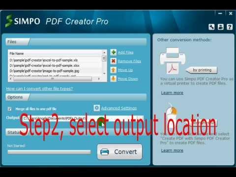 simpo pdf creator create and combine files to pdf