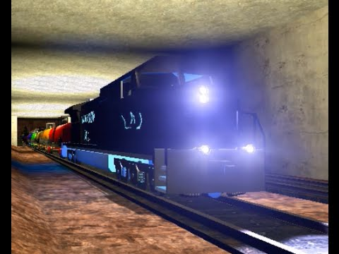 Garry's Mod Railfanning - Pretty Dash 9 With Blue Underlighting Pulls 14 Rainbow Tankers!