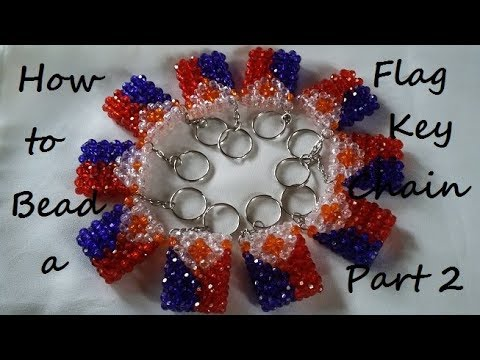 How to Bead a Flag Keychain Part 2