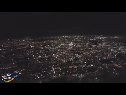 Night approach, landing & taxi at London (LHR) - cockpit ✈