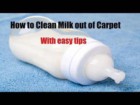 how to clean milk from carpet