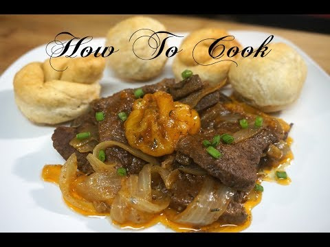 ABSOLUTE Best JAMAICAN LIVER And ONIONS RECIPE EVER / How to Cook