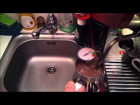 Making chocolate with espresso machine