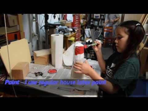 How to make a Papier Mache Lighthouse Pinata