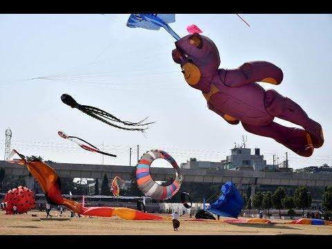 Octopus teddy bears kite in telangana kite festival