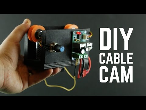 DIY Cable Cam with bluetooth controlled gimbal