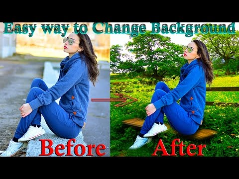 Adobe Photoshop CC How to Background Change with Pen Tool and Photo Retouch Tutorial 2017
