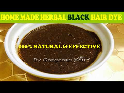 Homemade Herbal black hair dye/Get jet black hair instantly/get rid of grey hair 100%natural at home