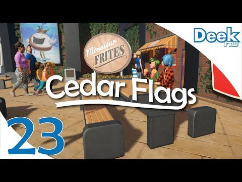 Let's Design Cedar Flags Ep. 23 - New 1.4 Update - Picnic Tables, Staff Rooms & More- Planet Coaster