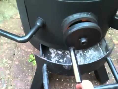 Helium bottle stove finished
