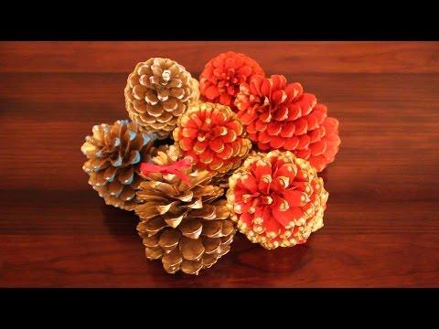 DIY Painting pinecones for Christmas ~ Piñas navideñas decoradas
