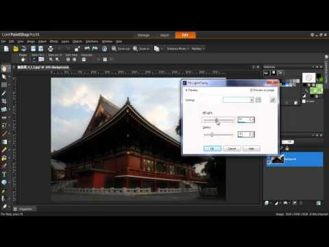 Using Fill Light and Clarity in Corel PaintShop Pro X4