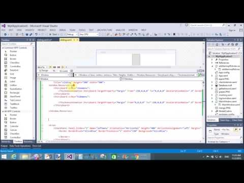 Sliding window example in WPF