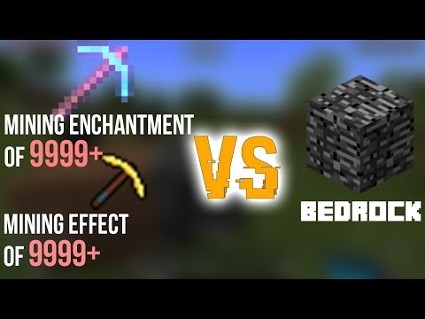 SUPER POTION + SUPER ENCHANTMENT VS BEDROCK... in Minecraft PE