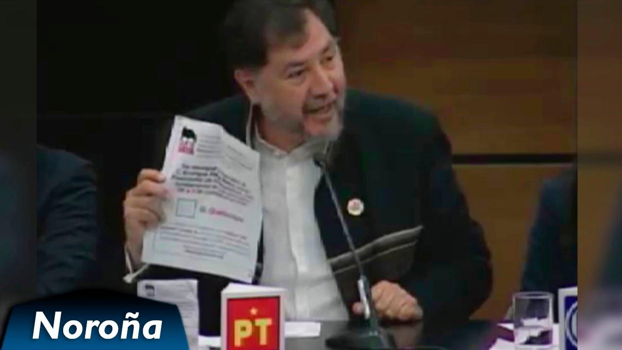 """""""Peña Nieto es Monstruosamente Corrupto"""" - Debate Fernández Noroña en el INE"""
