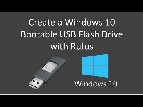 Create a Windows 10 Bootable USB Flash Drive with Rufus