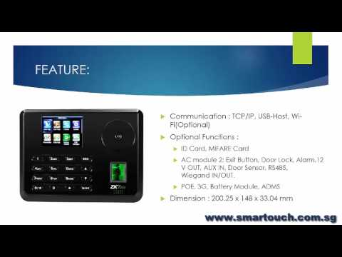 Access Control System : Palm Recognition Multi Biometric T&A Terminal P160 Overview