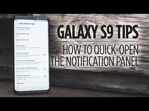 Samsung Galaxy S9 Tips - How to Quick-Open the Notification Panel