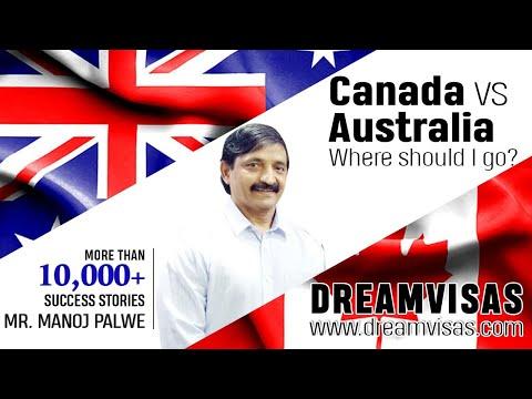 Australia Vs Canada migration visa comparison By Manoj Palwe