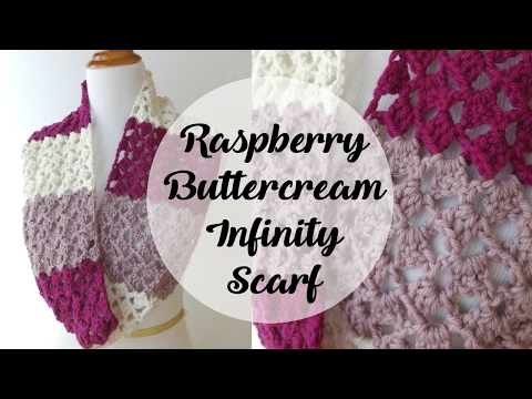 Episode 142: How To Crochet The Raspberry Buttercream Infinity Scarf