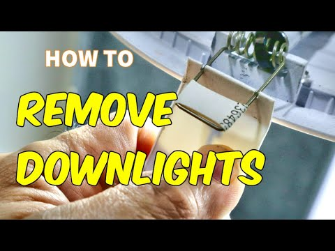 How to Remove Downlights from the Ceiling