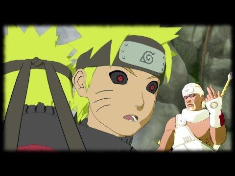 Killer Bee and Dark Naruto - Waterfall of Truth Training - Naruto Shippuden Ultimate Ninja Storm 3
