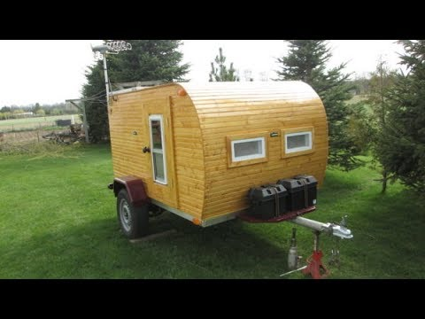 $1000 DIY Wooden Teardrop Trailer