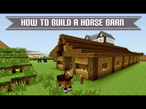 Minecraft Xbox & Playstation: How To Build A Cool Survival Horse Barn Simple & Easy Tutorial