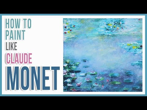 How to Paint Monet's Water Lilies with Acrylic Paint Step by Step   Art Journal Thursday Ep. 26