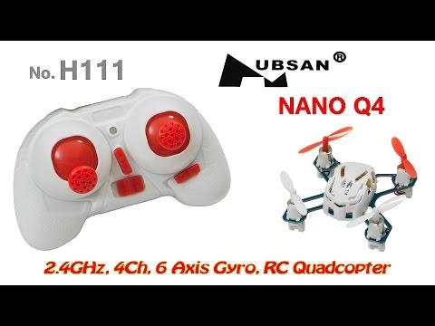 Hubsan H111 (Nano Q4) 2.4GHz, 4Ch, 6 Axis Gyro, RC Quadcopter (RTF) and cat