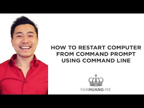 How to Restart Computer from Command Prompt using Command Line