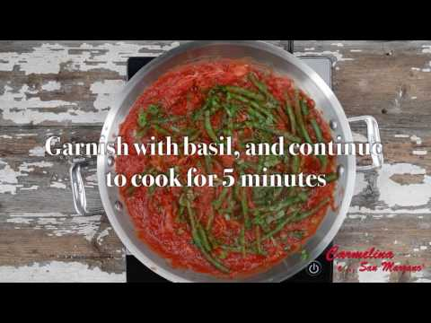 Carmelina Brands Green Beans with Tomato and Sliced Almonds Recipe