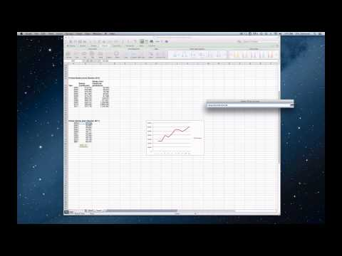 How to create a simple line graph in Excel for Mac 2011