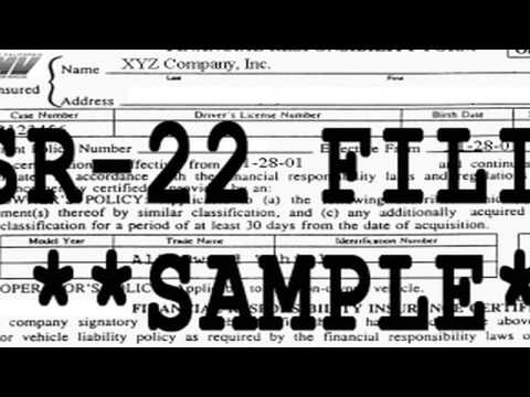 When do I need to file an SR22 with the DMV?