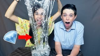 CRYSTAL DIAMOND SLIME!! w/ REAL DIAMONDS!