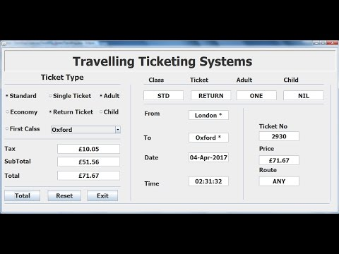 How to Create a Travelling Ticketing System in Eclipse