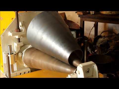 Cone making machine V2 - Aerial bomb tail fin unit plate rolling machine