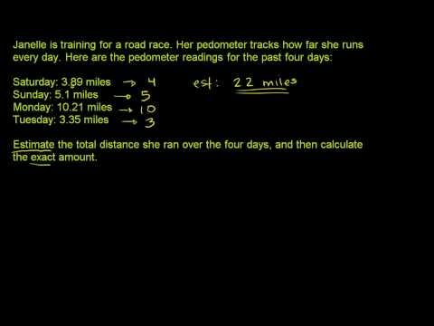 Estimation with Decimals