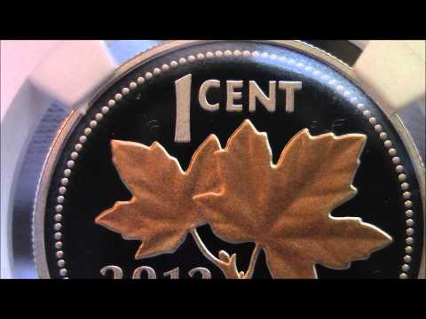 2012 - Canadian Silver Penny Half oz Silver - Rose Gold Maple Leafs - Coin Showcase