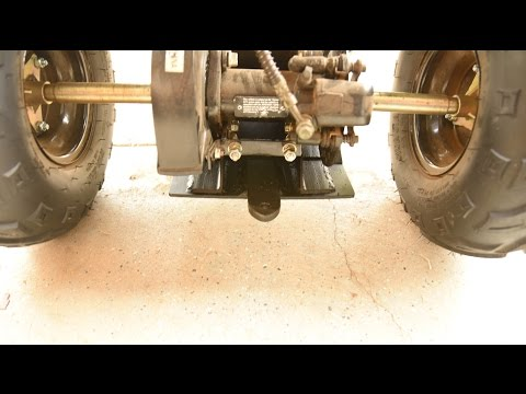 Youth ATV Skid Plate and Trailer Hitch
