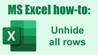 Excel How To Unhide All Rows
