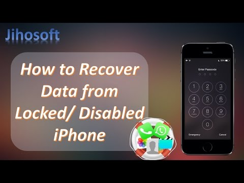 Best Way to Recover Data from Locked/Disabled iPhone