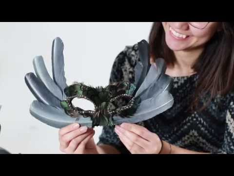 ​Feather Mask Tutorial for Halloween, Costume Party, Masquerade, cosplay, or craft project
