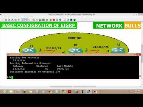 Basic Configuration of EIGRP routing protocol on Cisco routers - CCNA R&S