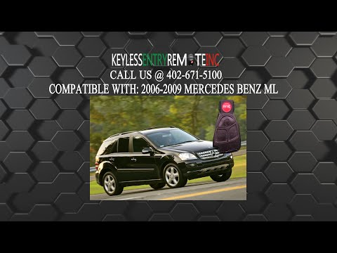 How To Replace Mercedes Benz ML Key Fob Battery 2002 - 2006