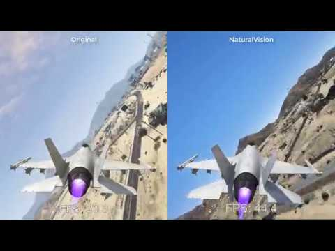 GTA 5 NaturalVision Remastered vs Original ✪ Ultra Realistic Graphics setting
