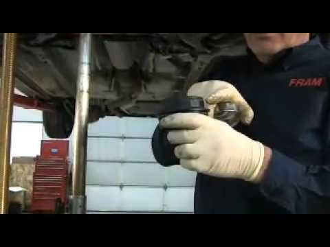 FRAM Cartridge Oil Filter change on Mazda 2.3