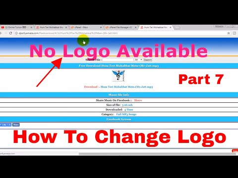 how to change logo download page of php website part 7 Website ka logo kaise change kare